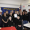 American Legion 12/2/09 : American Legion Post 162 presented the Ladies Aux. of the Hillsdale Fire Department with a certificate of appreciation for all their years of service to the Hillsdale Fire Dept.