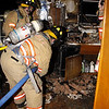 Montvale Fire Dept- Apartment fire 12/8/09 : The Montvale Fire Dept was dispatched to a report of a fully involved apartment fire at 22 Rolling Ridge.  Police on scene confirmed the fire and evacuated the residents.