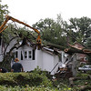 Tree into House Liberty Ave 8/22/09 : The Hillsdale Fire Department responded to a tree into a house on 8/22/09. The tree structurally damaged the home and the house was deemed uninhabitable.
